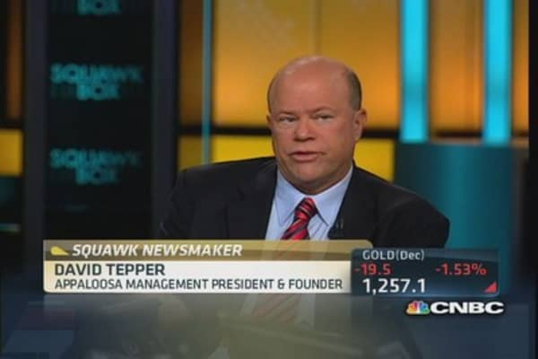 Tepper: Looking for normal stock multiples