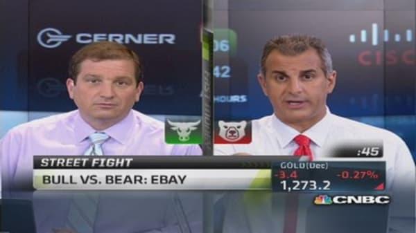 Traders debate the eBay play