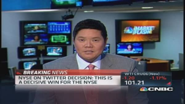 NYSE Looks forward to 'partnering' with Twitter