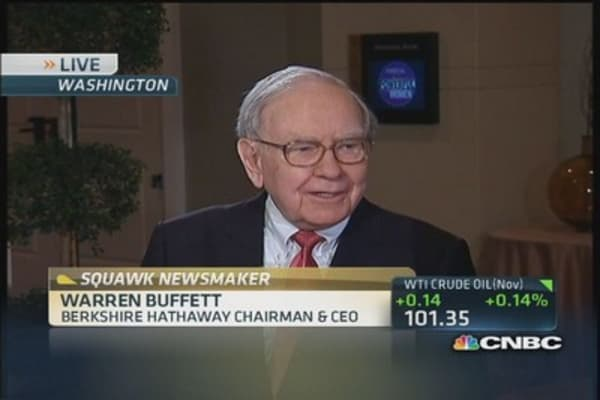 Buffett: It's not a mistake to buy stocks now