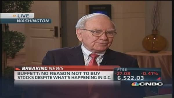 'Stocks are not selling at bubble levels': Buffett