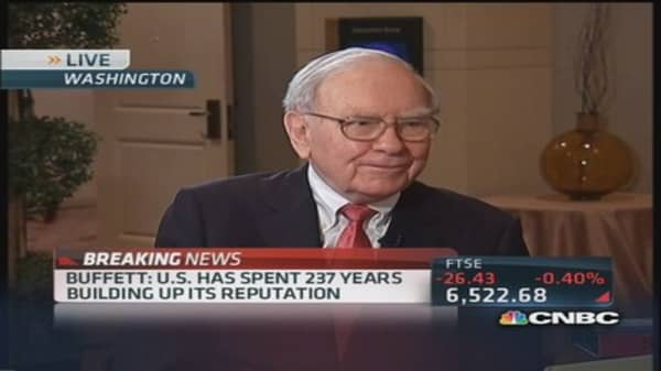 Buffett: 'Credit worthiness is like virginity'