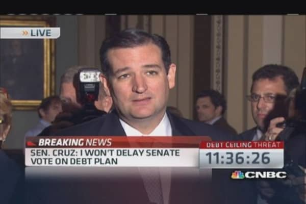 Sen. Cruz disappointed  Senate gave up Obamacare fight