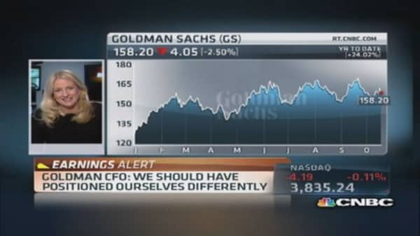 GS conference call: Fixed income, just had bad quarter