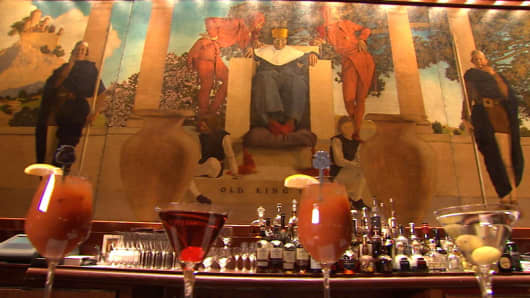 King Cole Bar at St. Regis Hotel in New York City.
