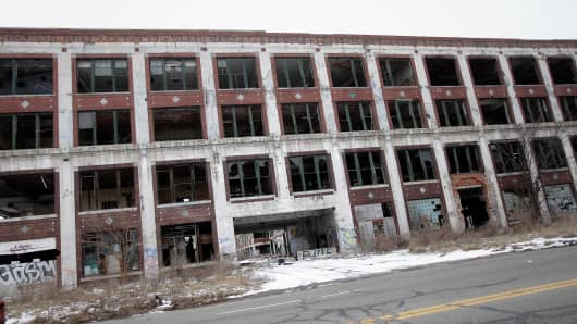 The former Packard Plant in Detroit.