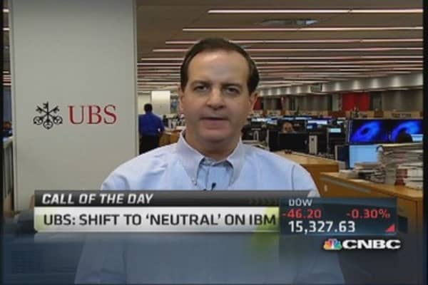 IBM gets downgraded to neutral