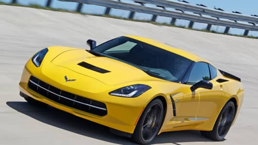 2014 Chevrolet Corvette Stingray equipped with Z51 performance package
