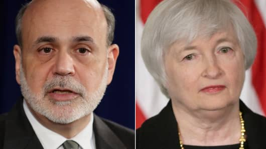 Ben Bernanke and Janet Yellen