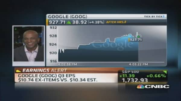 Google reports Q3 earnings