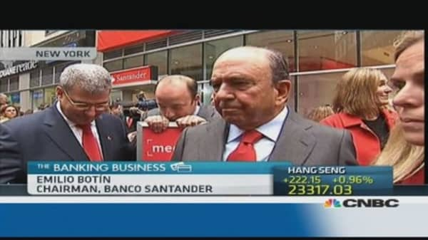 'Fundamental' for Spain to have stress test: Santander's Botin