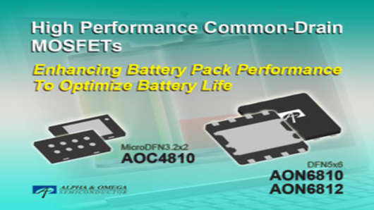AOS Common-Drain MOSFETs