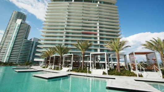 The Apogee South Beach, one of Miami's most expensive towers