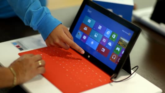 A Windows Surface tablet.