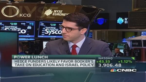 Hedge funders for Cory Booker