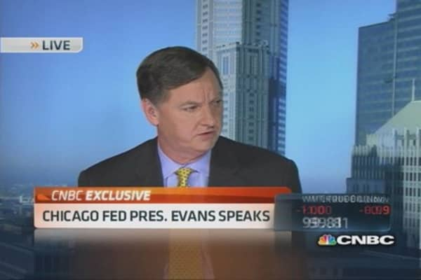 Chicago Fed Pres. Evans on tapering & GDP
