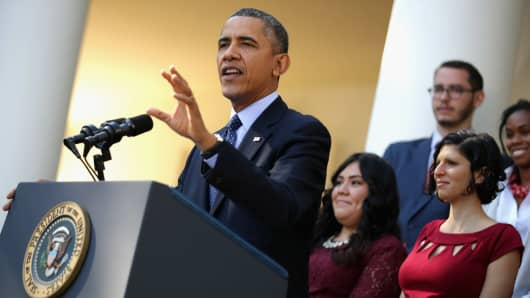 President Barack Obama delivers remarks about the error-plagued launch of the Affordable
