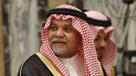 Saudi Arabia's intelligence chief, Prince Bandar bin Sultan.