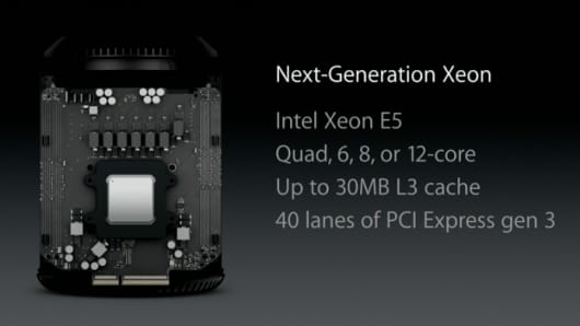 Apple announces the next generation Xeon.