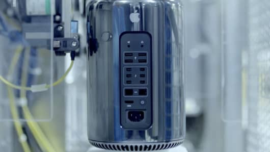 The new Mac Pro announced by Apple.
