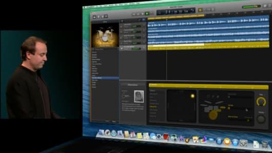 Apple upgrades Garage Band with adding Drummer.
