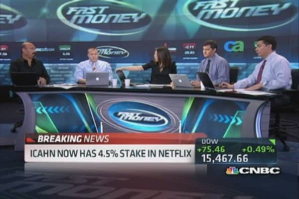 Icahn now has 4.5% stake in Netflix