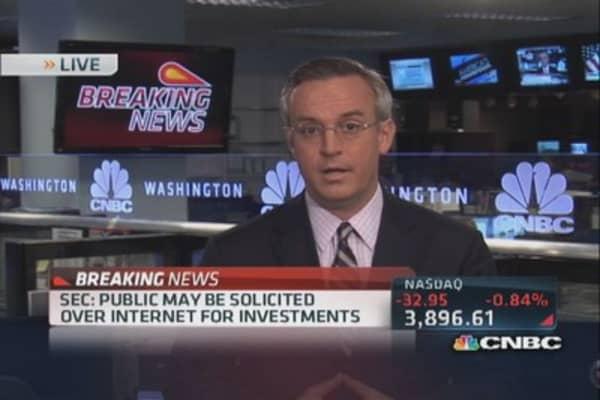 SEC caps 'crowdfunding': Javers
