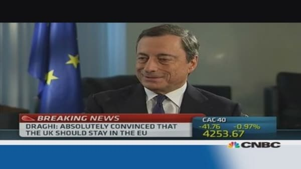 Draghi: Europe needs banking transparency