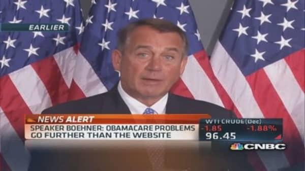 Boehner steps up attack on Obamacare