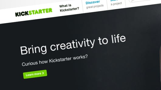 Kickstarter home page