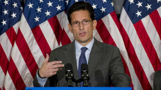 House Majority Leader, Eric Cantor, R-VA.