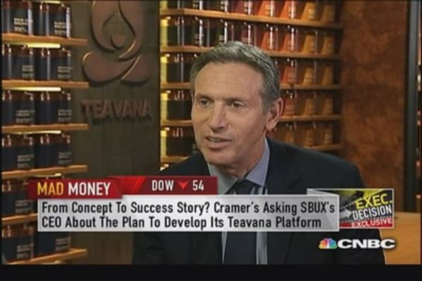 Starbucks CEO: Teavana will leapfrog internationally first