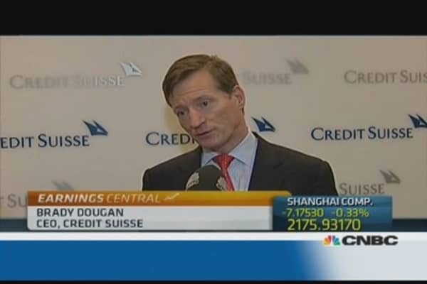 Credit Suisse had 'solid performance': CEO