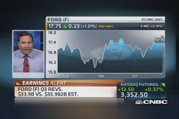 Ford beats the Street; raises guidance