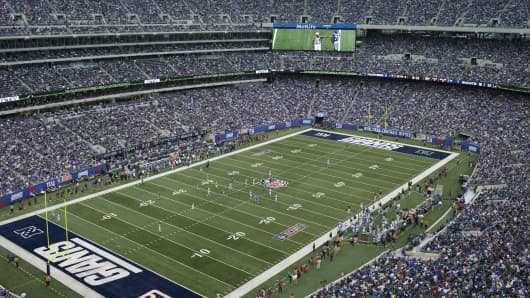 An interior view of the MetLife Stadium in East Rutherford, New Jersey.