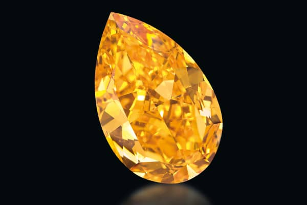 The world's largest known orange diamond.