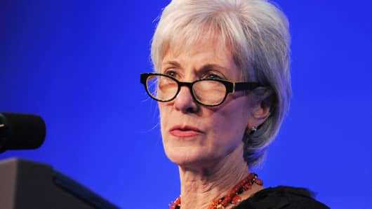 Kathleen Sebelius, secretary of the Department of Health and Human Services