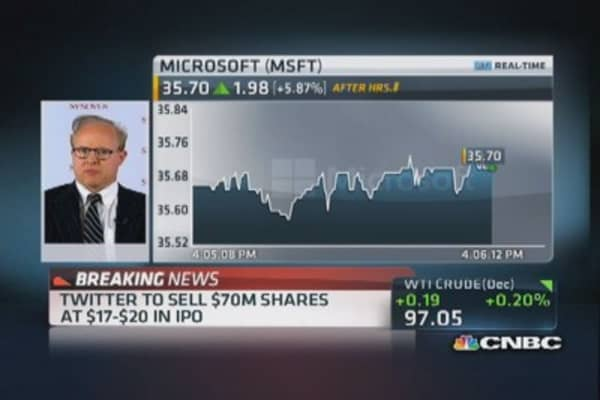 Microsoft Q1 earnings 'big surprise'