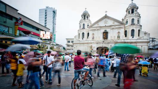 Plaza Miranda in Quiapo, Manila.