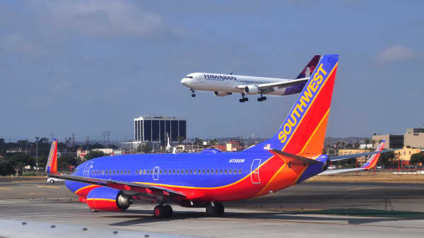 A Southwest Airlines Boeing 737.
