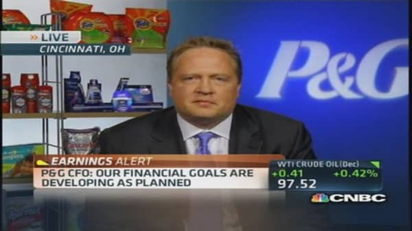 P&G earnings 'right on track': CFO