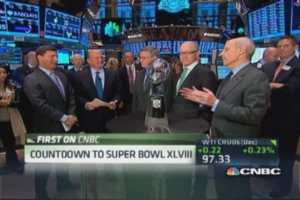 Countdown to Super Bowl XLVIII at NYSE