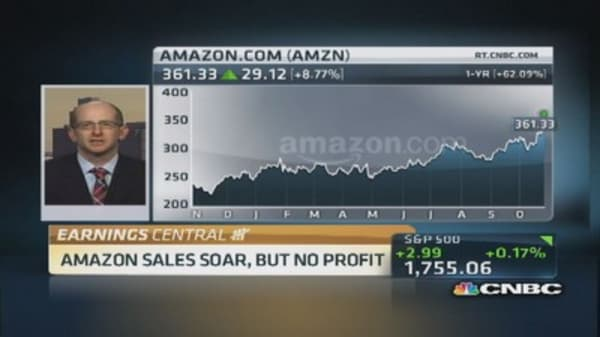 Amazon shares soar on Q3 beat