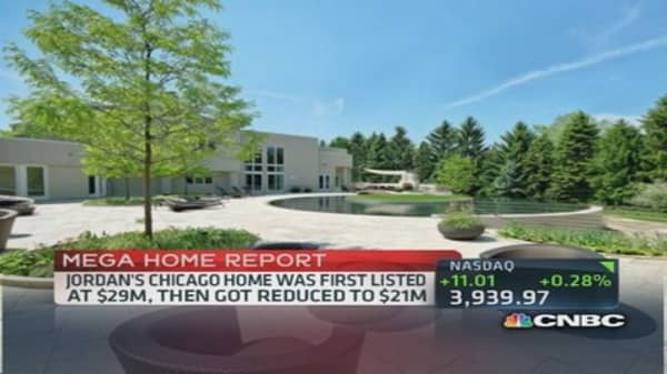 Chicago Bulls' Michael Jordan auctions home