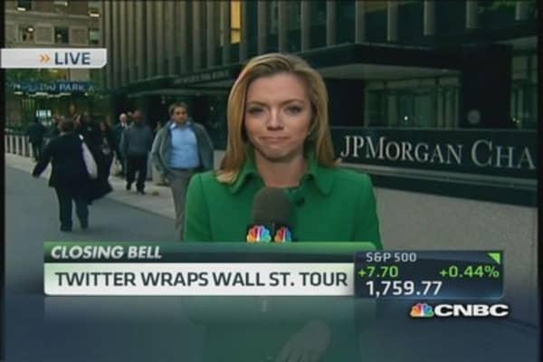 Twitter wraps Wall Street tour