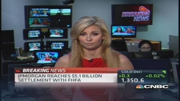 JPM reaches $5.1 billion settlement with FHFA