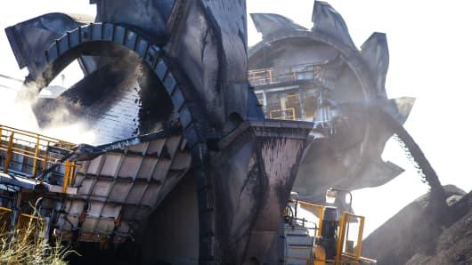 Newcastle Coal Terminal in Newcastle, north of Sydney, Australia.