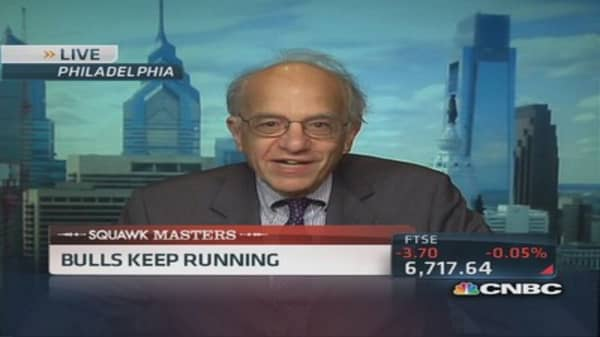 Professor's run with the bulls: Dow 17,000?