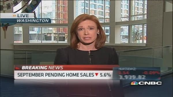 Pending home sales down 5.6%