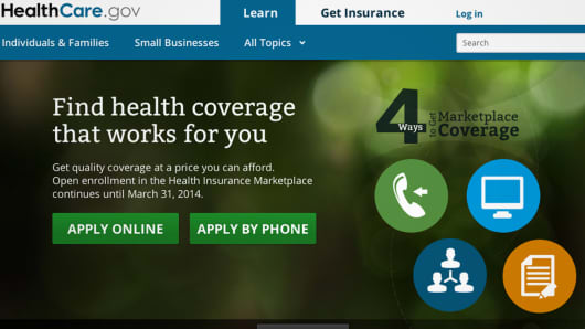 HealthCare.gov hompage